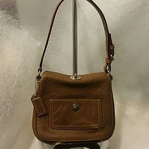 Coach Small Brown Pebble Leather Bag